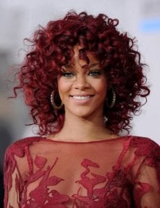Rihanna-Red-Curly-Hairstyle