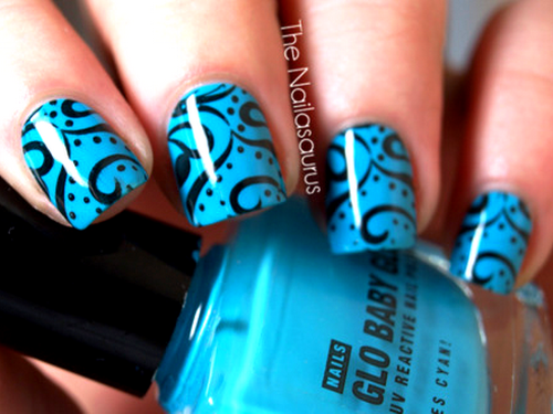 30 easy and unique nail art ideas and designs listaka curly designs unique nail art prinsesfo Choice Image
