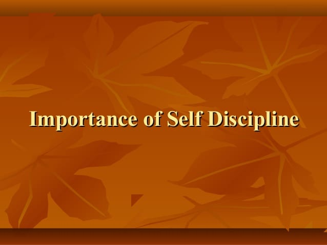 thesis on self discipline brings success Discipline brings success essays narrative essay college admissions login essay against culture essays on young goodman brown themes unity faith and discipline.