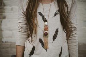 feather stamp shirt diy