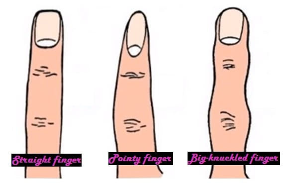 how your finger shape represents your personality