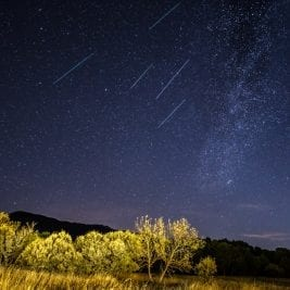 brightest meteor shower