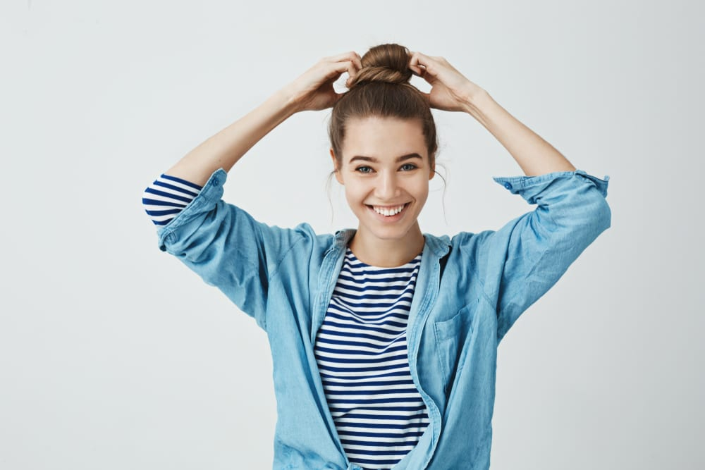 How to Appear Taller and Slimmer: Buns and Top Knots