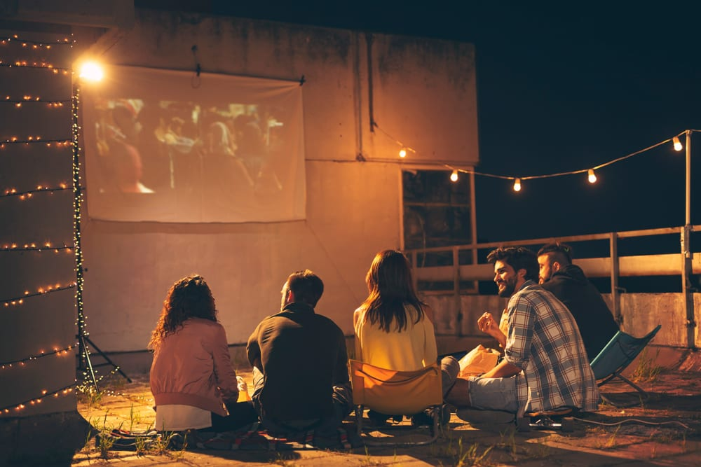 Activities for Fathers Day - Watch an outdoor movie