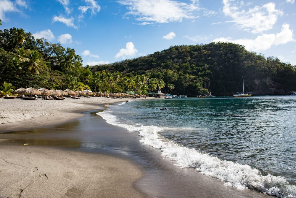 Beaches With Black Sand - Anse Chastanet