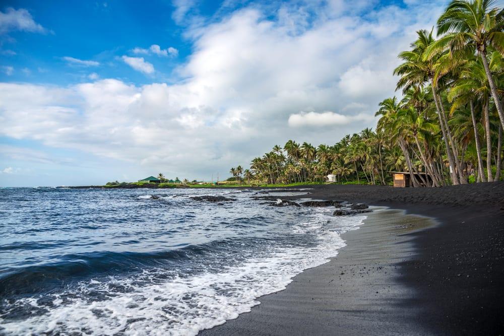 Beaches With Black Sand - Punaluu Beach