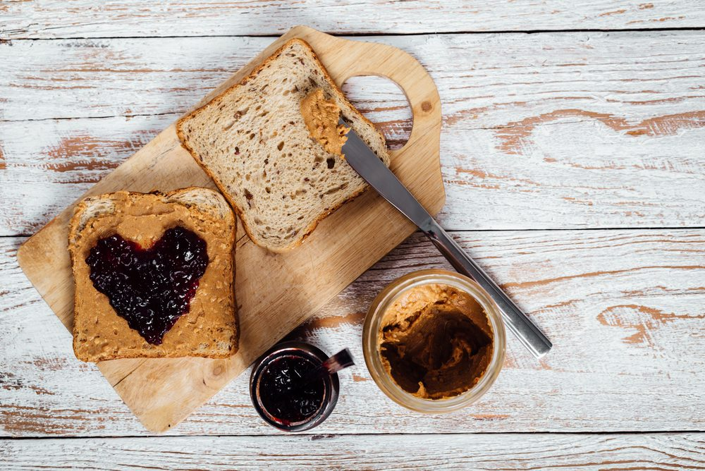 Late-Night Nutritious and Healthy Snacks - Peanut Butter and Jelly