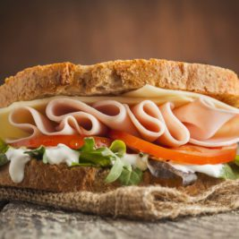Late-Night Nutritious and Healthy Snacks - Turkey Sandwich
